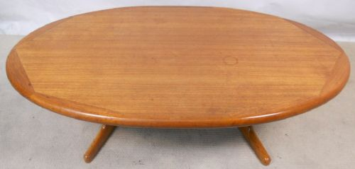 Large Oval Teak 1960's Coffee Table